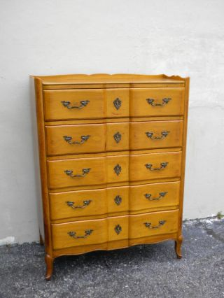 Serpentine Cherry Chest Of Drawers By Cassard 2646 photo