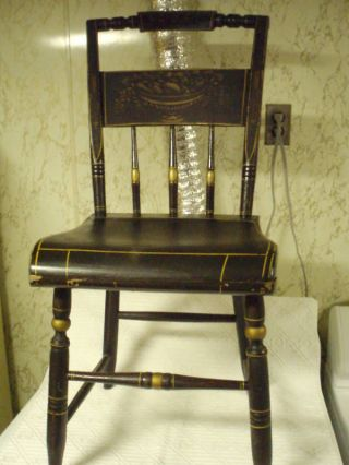Antique Estate Hitchcock Style Chair - All photo
