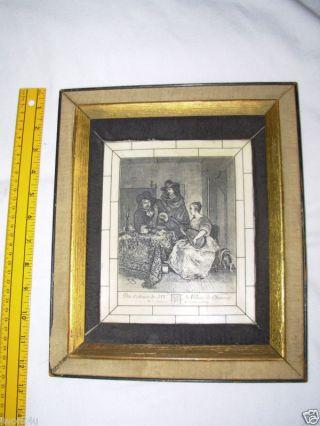 Du Cabinet De Le Duc Choiseul Terburg French Art Framed Picture Old As Dirt photo