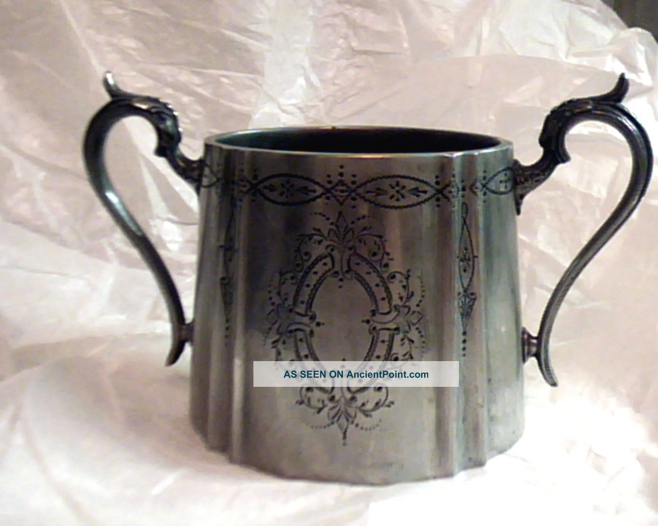 Early Victorian;1889;;lrg Ornate;silver,  Pl Sugar Bowl;stmp Uncategorized photo