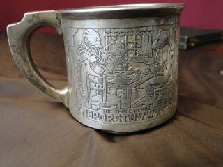 Child Mug Nursery Rhyme Theme - Sterling Silver Made By Gorham photo