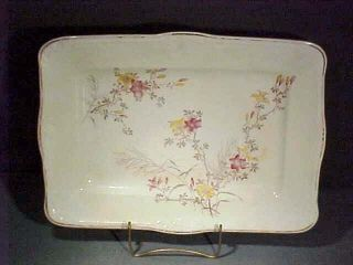 C1888 England H Alcock Large Floral Sandwich Tray photo