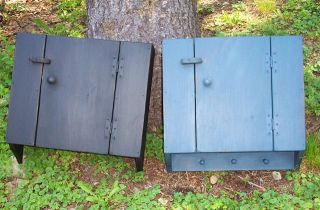 Primitive Handcrafted Country Wall Cupboard photo