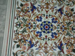 Micromosaic Pietra Dura Flower Roman Coffee Table Top photo
