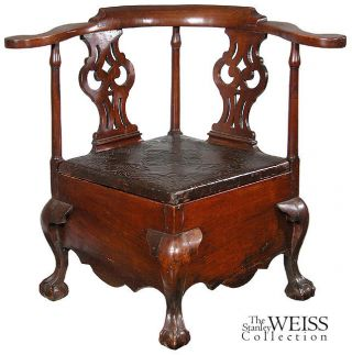 Swc - Fully Developed Chippendale Commode Stool,  C.  1760 photo