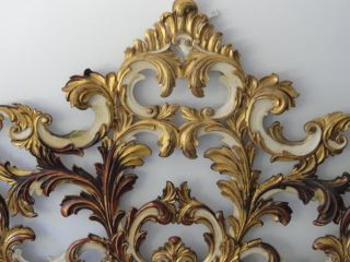 John Widdicomb Venetian Gilt Carved Wood Headboard King Size photo