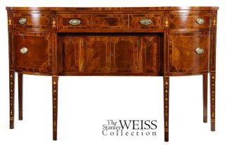 Swc - Inlaid Mahogany Hepplewhite Sideboard,  New York,  C. photo