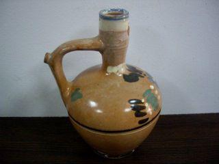 Antique Islamic Ottoman Glazed Pottery Pitcher Jug photo