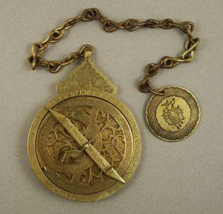Antique Brass Astrolabe photo