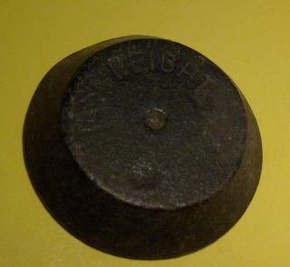 Antique Cast Iron Weight Signd Test Weight 2 1/2
