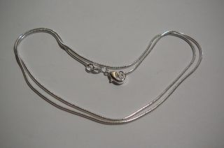 . Necklace.  26  (65cm).  Men ' S Women ' S.  Silver.  925mark. photo