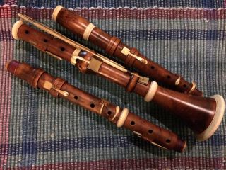Boxwood 8 - Key Lotz Clarinet Set In Bb And A By Brian Ackerman A430 photo