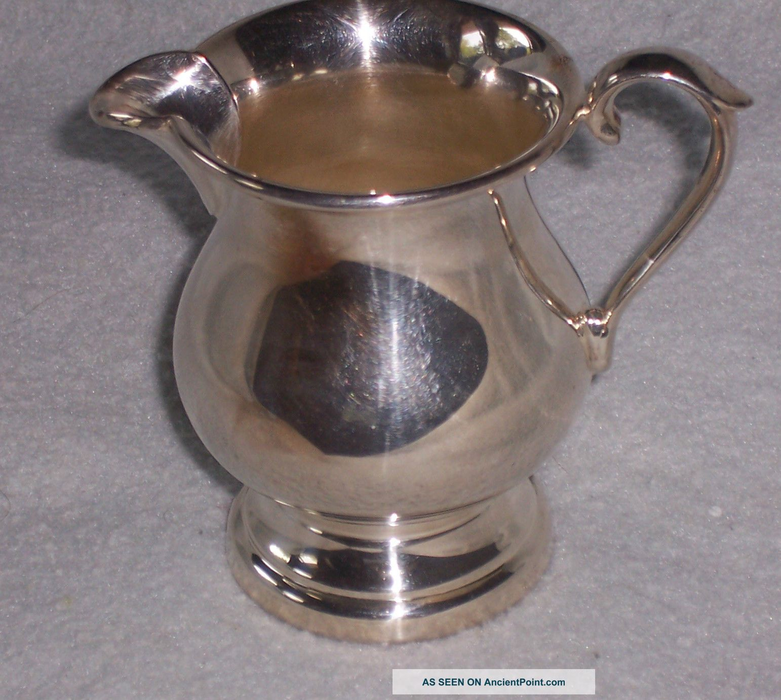 Sheffield Silver Plated Footed Creamer 60x Creamers & Sugar Bowls photo