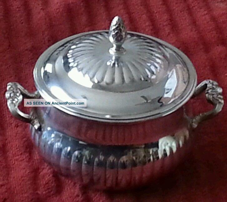 Eales 1779 Silver Plate Candy/sugar Bowl Creamers & Sugar Bowls photo