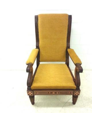 Charles X Style High Back Inlay Chair photo