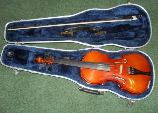Meisel Violin Model 6104 4/4 Stradivarius Bow + Bonus Kun The Rest photo