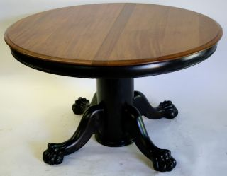 Dining Room Table Round American Empire Style Occasional Table 1890 Claw Paw photo