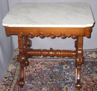 Antique Renaissance Walnut Marble Table Thomas Brooks photo