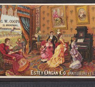 1800 ' S Estey Organ Brattleboro Vt Factory View Victorian Advertising Trade Card photo