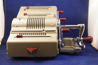 Excellent Brunsviga 13 Rk Calculator Made Around 1950,  No Signs Of Wear. photo