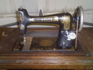 The Bruce Sewing Machine Company Early 1900 ' S Sewing Machine photo