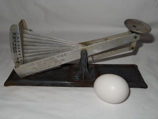 Antique/vintage Acme Egg Grading Scale Chicken/poultry Farm Tool 1924 photo