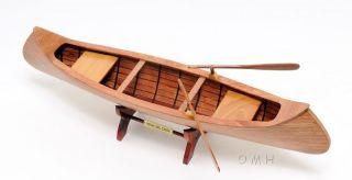 J.  H.  Rushton Indian Girl Wooden Model Canoe 24