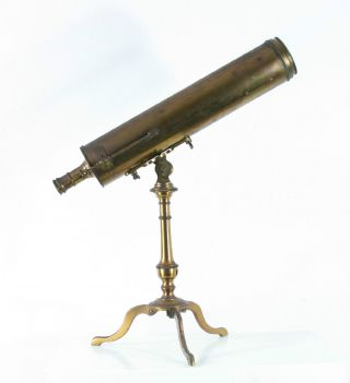 Rare Antique 18th C.  Reflecting Telescope By L.  Van Der Bildt Franeker,  No.  143 photo