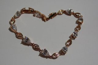 . Bracelet.  Rose Gold 14k Multicolors. photo