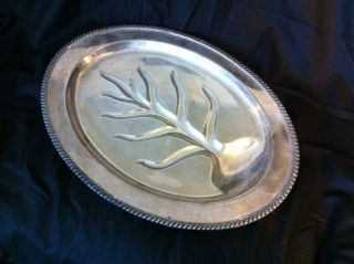 Vintage Silver Meat Tray Size 18