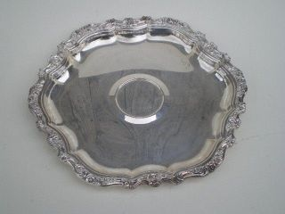 Large,  Silver Hexagon Serving Tray photo