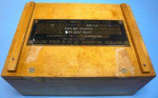 Vintage Control Gear Spares For Life Boat Davit Allen West & Co Brighton England photo