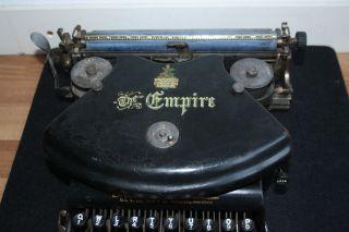Antique Typewriter The Empire Antik Schreibmaschine (pre Adler) photo