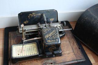 Antique Typewriter Mignon No.  2 Index Schreibmaschine + Case photo