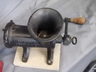 Antique Metal Cast Iron Enterprise No.  12 Vintage Kitchen Meat Grinder Press photo
