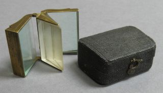 Antique Georgian Articulated Triple Prism In Shagreen Case - Optical C 1800 photo