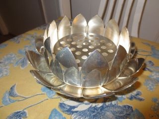 Silver Centerpiece/serving Bowl/flower Frog. . .  You Choose photo