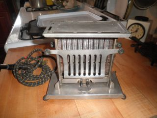 Antique 1915 Landers Frary & Clark Toaster,  W/ Bakelite And Cloth Cord photo