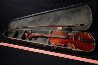Antique Wilhelm Duerer Violin - William Lewis & Son Violin Amati No.  3 Anno 1914 photo
