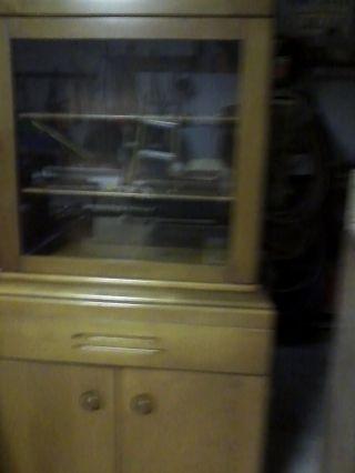 Vintage Wood China Cabinet photo