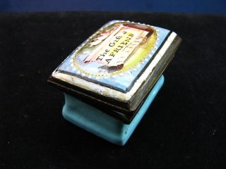 18th C.  English Battersea Or Bilston Enamel Patch Snuff Box The Gift 2 A Friend photo