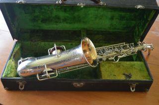 Vintage 1923 Buescher True Tone Low Pitch Alto Saxaphone With Case photo