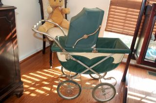 Baby Carriage By Collier Keyworth Folding Buggy / Stroller Vintage 1940 ' S photo