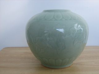 Chinese Qing Porcelain Gold Fish Lotus Jar photo