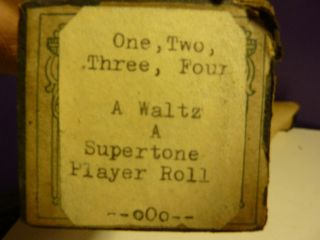 Vintage Piano Roll Supertone 1078 One Two Three Four Waltz 1917 Kalama - Alau photo