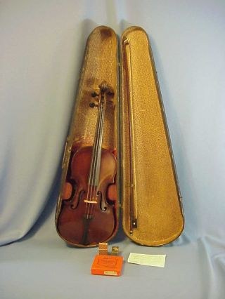 Antique German 4/4 Violin By Friedrich August Glass C.  1850 ' S W/ Bausch Bow Case photo