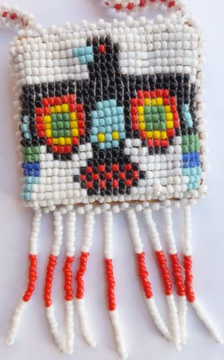 20th Century American Indian Beadwork Purse photo