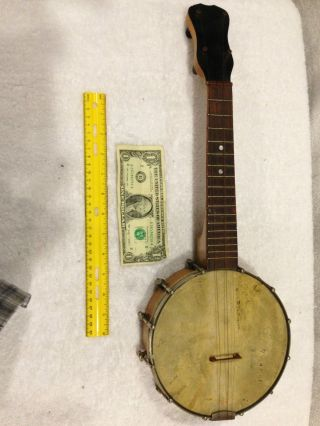 Vintage Slingerland Made Banjo - Uke Resonator & Body/ Waverly Bridge - All Marked photo
