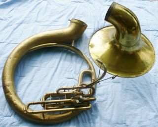 1959 C.  G Conn Sousaphone Elkhart 24 Inch Bell Lady 3 Valve Serial 827180 Brass photo