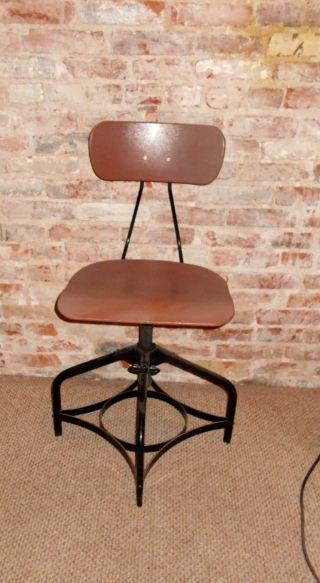 Toledo Stool Mid - Century Machine Age Industrial Steampunk Chair Stool Adjustable photo